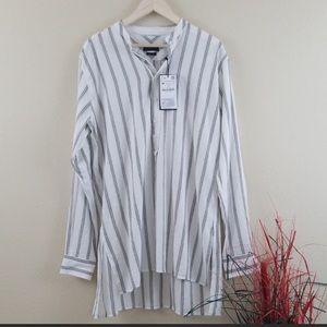 NWT Zara oversized striped shirt